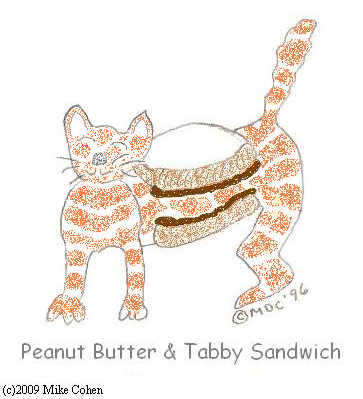 Peanut Butter and Tabby Sandwich